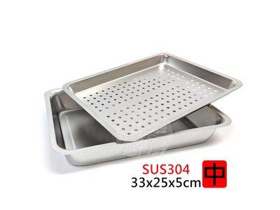 [歡樂廚房] (中) 正304不鏽鋼茶盤組18-8白鐵茶盤 方盤  雙層 自助餐 鹽酥雞 多用途多尺寸