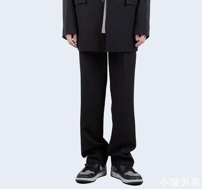 韓國代購19SS OUT STITCH SLACKS 側拼色線條西褲長褲 低價 批發