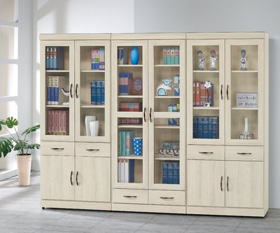 【南洋風休閒傢俱】書架 書櫃 書櫥 展示櫃 收納櫃 造形櫃 置物櫃系列-白栓木3*6尺中抽書櫥CY412-820