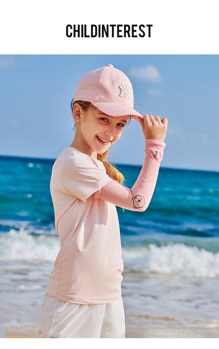 【露西小舖】Pelliot兒童戶外防曬袖套UPF50+(卡通圖案)防紫外线袖套冰感針織袖套輕薄透氣高彈力袖套吸濕排汗袖套