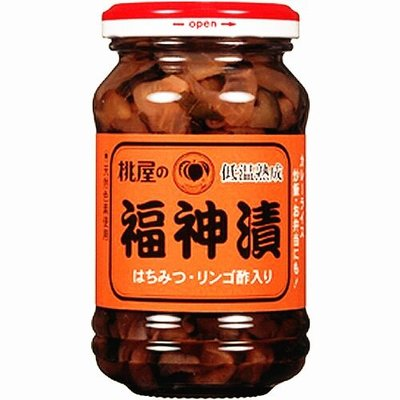 +東瀛go+ 桃屋 福神漬 145g 玻璃罐裝 添加蜂蜜、蘋果醋 桃屋福神漬 配飯 涼拌 野菜醃漬罐 拜拜 日本原裝進口