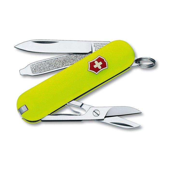 瑞士維氏 Victorinox 58mm 7用 Classic SD 瑞士刀 螢光綠 0.6223 #53208