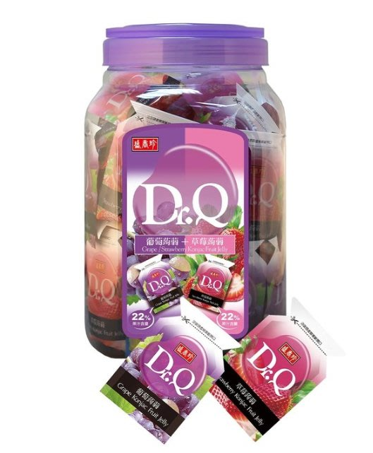 (共2桶)Dr.Q 葡萄草莓蒟蒻果凍 1860公克 *2入 【COSTCO好市多線上代購】