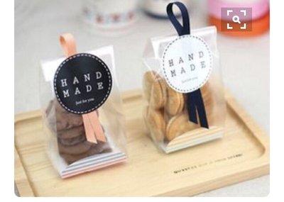 Amy烘焙網:霧面條紋立體側邊餅乾食品包裝袋 封口機用  餅乾包装底托袋 婚禮小物包裝袋  底托 48入