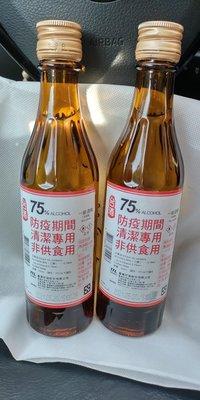 台酒75%防疫酒精2瓶