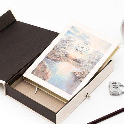 密碼本子 筆記本帶鎖 兒童秘密日記本 加密記事本女 歐式彩頁插畫手繪