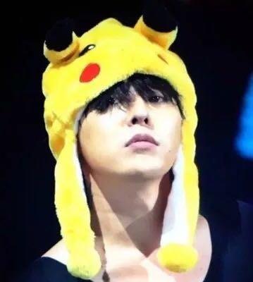 現貨😍超萌明星同款帽子bigbang TOP MADE演唱會GD同款卡通動漫 護耳帽帽子 皮卡丘黃色小鴨造型帽子