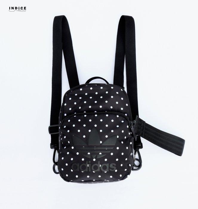 INDiCE ↗ Adidas Originals Mini BackPack 經典迷你後背包 DY9557 黑色/點點