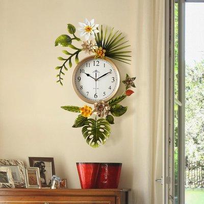 〖洋碼頭〗田園創意潮流美式客廳掛鐘表北歐式簡約藝術時鐘家用掛表 ogh173