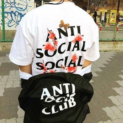 【P+C】Anti Social Social Club ASSC Kkoch Tee 櫻花 圖案 短袖T恤 男女 黑白