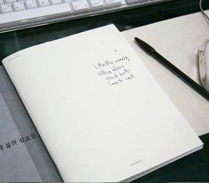Growlife 種生活 ▶ 韓國 601STREET - Blank Schedule簡約素面空白計劃本/記事本/手札/萬用手冊