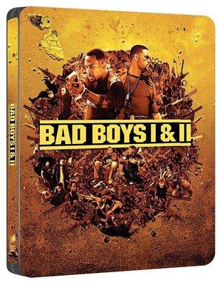 毛毛小舖--藍光BD 絕地戰警1+2集 4K UHD+BD 四碟限量鐵盒版(中文字幕) Bad Boys 威爾史密斯