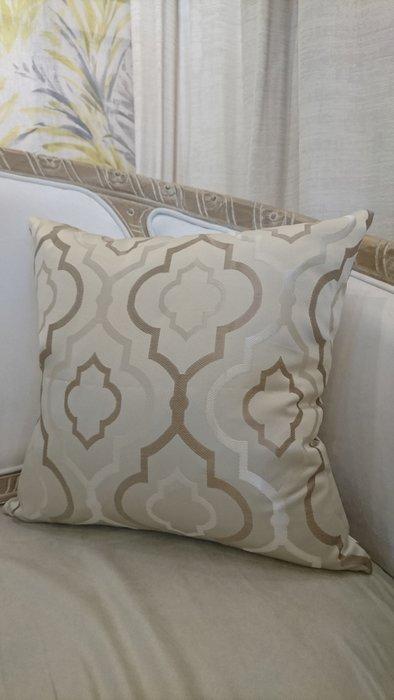 [C044]高檔緹花布 幾何梅花格金色  45*45公分 抱枕 低調奢華 現代 美式 棉心另購