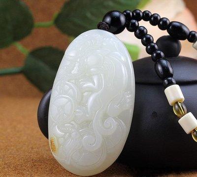 【錦雲閣】廠家直銷新疆和田玉籽料貔貅手把件和田玉羊脂白玉貔貅把玩件