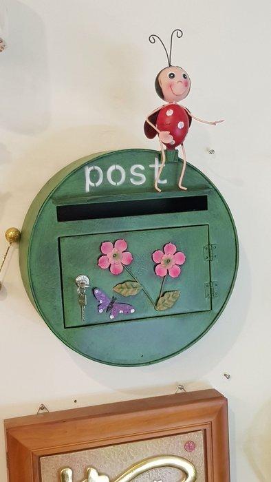 信箱 田園風鐵藝瓢蟲立體動物造型信箱 意見箱 郵筒信件