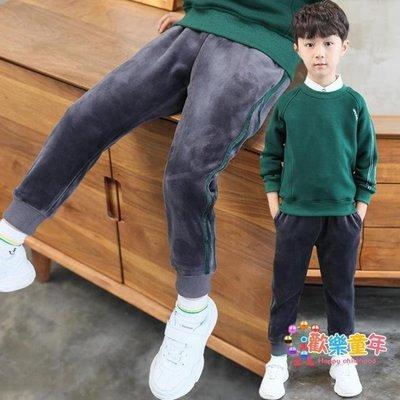男童金絲絨長褲刷毛加厚褲子秋冬新款兒童休閒運動褲保暖棉褲