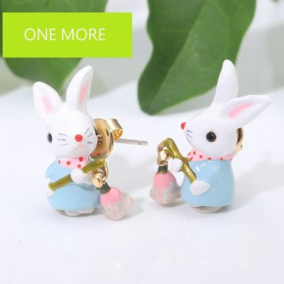 兔子鈴紫蘭耳環