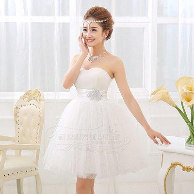 衣萊時尚-女伴娘服新款短款韓版公主抹胸...