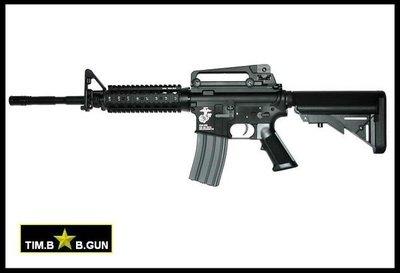 生存遊戲首選單連發KWA新版M4A1步槍RIS戰術魚骨海豹伸縮托電動槍+320連金屬鏈式彈夾