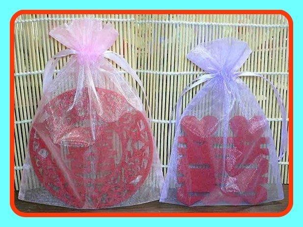 雙囍~囍字杯墊贈送紗袋~包裝資材.結婚禮小物 宴客贈品 二次進場 婚宴送客 新婚禮品