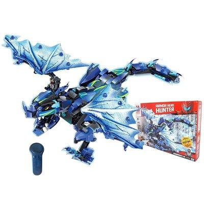 ~維思積木鎧甲勇士電動機械遙控颶風飛龍插小顆粒拼裝玩具益智兒童