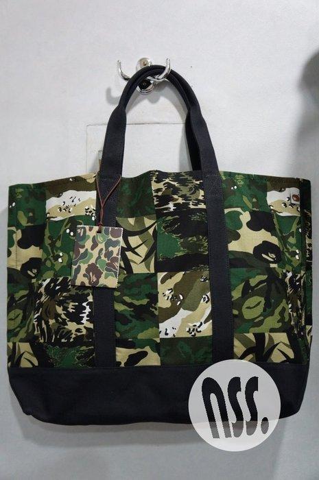 「NSS』A BATHING APE BAPE Panel Camo Tote Bag 迷彩 托特包