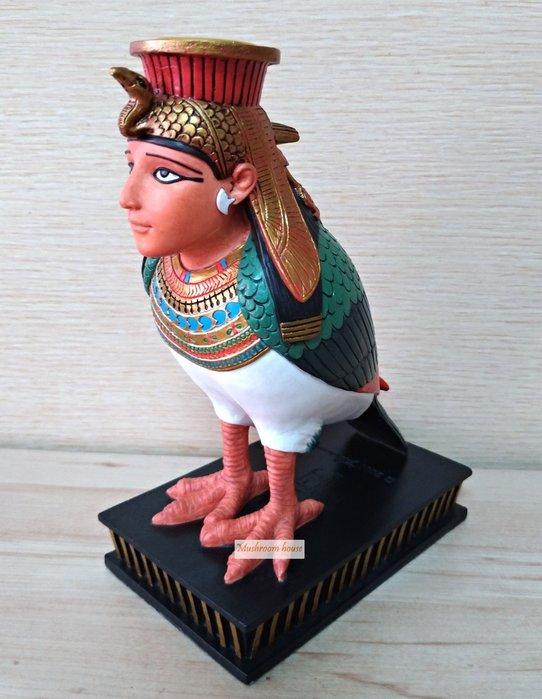點點蘑菇屋 歐洲精品古埃及人頭鳥身燭台擺飾 Egypt 藝術品 燭臺 古埃及文明 埃及古文 圖騰 家飾 現貨