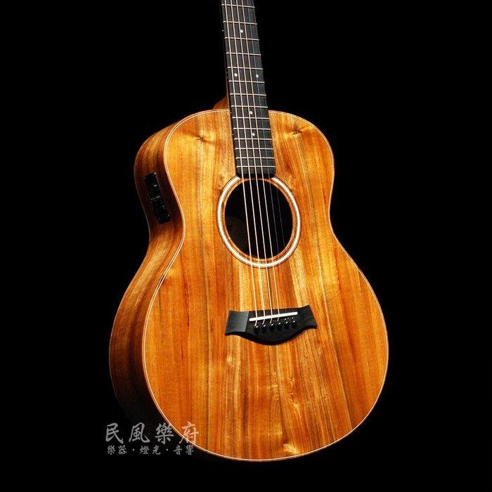 《民風樂府》Taylor GS Mini-e KOA 全夏威夷相思木 單板電木旅行吉他 全新在店 可免息分期 最佳選擇