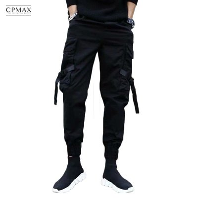 CPMAX 多口袋寬鬆哈倫褲 多口袋束...