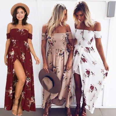 Summer Long Dress For Women Maxi Sexy Ladies Party Dresses 連身裙 裙子 大碼裙子 洋裝