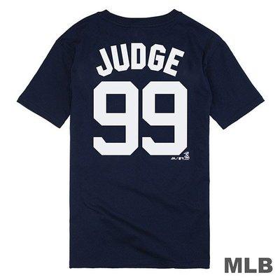 騎士風~ MLB Majestic 紐約 洋基 Aaron Judge 背號99號 短T 6730299-580