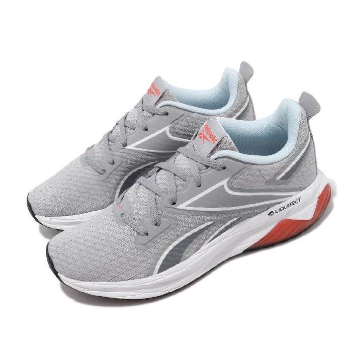 =CodE= REEBOK LIQUIFECT 180 SPT AP 透氣網布慢跑鞋(灰白橘) FV2751 老爹鞋 女