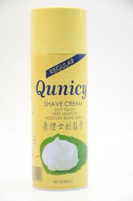 *德馨美容*台灣製 Qunicy 康禮士 450cc 刮鬍膏 刮鬍泡沫膏 刮鬍泡 男性刮鬍泡 清除鬍渣 刮鬍 清理鬍子
