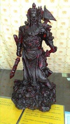 琥珀蜜臘原礦 大型神像雕件 關聖帝君 ...