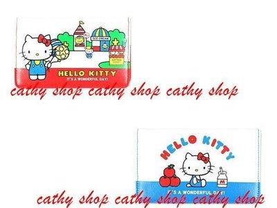 *凱西小舖*日本進口三麗歐正版KITTY凱蒂貓70年代復古系列存摺/卡片/證件收納套*2選1