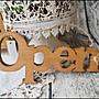 日式鄉村雜貨Zakka風 仿舊木製立體OPEN標示...
