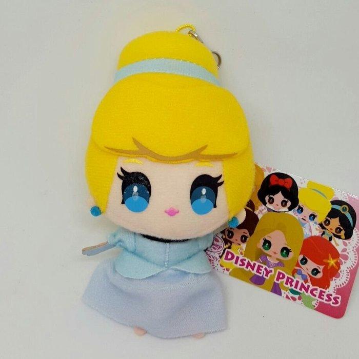 【UNIPRO】 仙履奇緣 仙杜瑞拉 3.5mm 手機 平板 Q版 絨毛防塵塞 吊飾 玩偶 日貨 迪士尼公主 灰姑娘