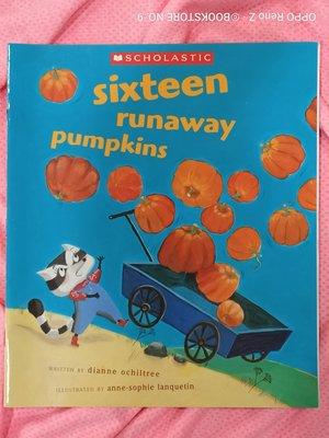 *NO.9 九號書店* Sixteen runaway pumpkins 英文繪本童書 SCHOLASTIC