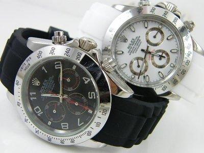 【錶帶家】20mm 22mm 代用勞力士 SEIKO 星辰 BALL OMEGA ORIS圓弧彎頭矽膠錶帶含不鏽鋼安全扣