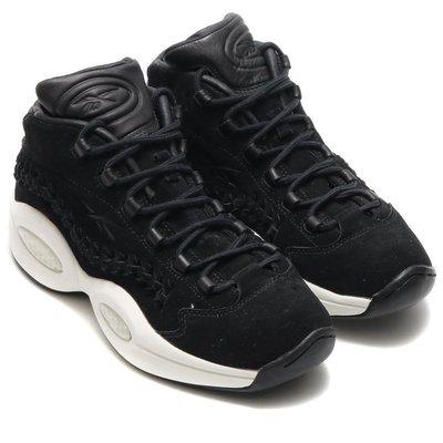=CodE= REEBOK QUESTION MID X HOF 編織麂皮籃球鞋(黑白)V72718 名人堂 戰神 預購