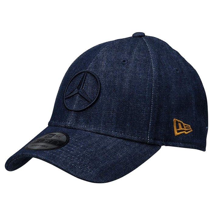 全新日本專櫃正品 Mercedes Benz x NEW ERA 日本限量版 聯名丹寧布材質金標經典賓士Logo棒球帽