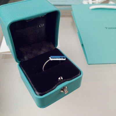 Connie代購 Tiffany&CO.蒂芙尼 S925純銀戒指 水晶戒指 飾品 首飾 附盒提袋 T字線造型 百搭