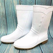 美迪-日日新-758--女用白色塑膠雨鞋~ 台灣製-餐飲/廚房/食品廠適合穿~衛生食品檢查必備款