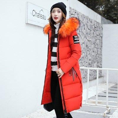 羽絨外套 連帽夾克-長款純色加厚毛領女外套6色73pa19[獨家進口][米蘭精品]