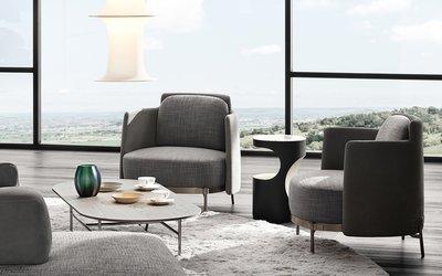 [米蘭諾家具]複刻Minotti Tape 時尚扶手主人椅 扶手單人椅 單人沙發 主人椅 現代主人椅