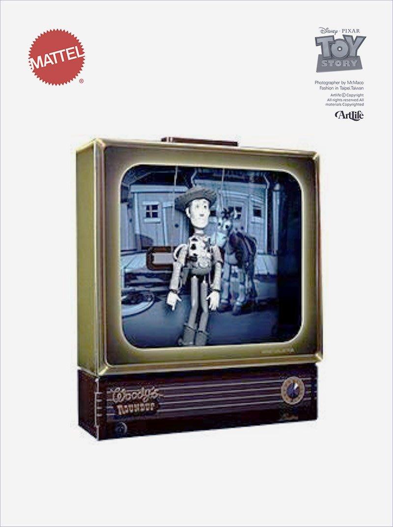 ArtLife @ MATTEL PIXAR EXPO ToyStory ROUNDUP Woody 黑白胡迪 電視箱