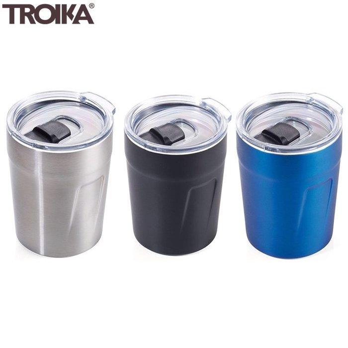 又敗家@德國TROIKA防溢保雙層保溫杯160ml環保便攜隨身杯CUP65含密封蓋適濃縮咖啡茶旅行杯保溫咖啡杯咖啡隨身杯