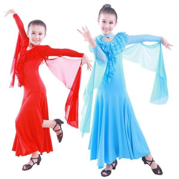 5Cgo【鴿樓】會員有優惠 19527914392 摩登舞裙少兒國標舞服交誼舞服兒童比賽表演裙拉丁舞舞衣 兒童女孩男孩