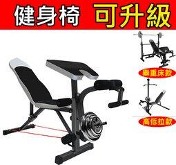 (訓練椅+ 二頭板+ 高拉配件)舉重椅 多功能訓練椅   啞鈴椅 臥推椅 可調訓練椅 重訓凳 臥推床 舉重床 重訓器材