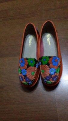 真皮厚底鞋標24.5cm可穿至25,5cm9成新(外箱)